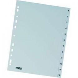 Rozdružovač A4 1-12, šedý, plastový, ROZ 1-12