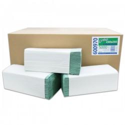 Ručníky skládané Z - Z, zelené/ 20 x 250 ks