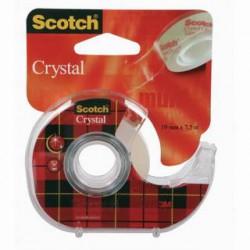 Lepící páska POP 19mm x 7,5m, SCOTCH CRYSTAL s odvíječem