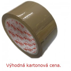 Lepící páska POP 50mm x 66m, hnědá, karton 36 rolí, ACRYL