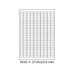 Etikety 17,8x10,0mm, 270 etiket x 100 archů, R01003442