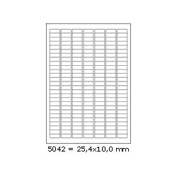 Etikety 25,4x10,0mm, 189 etiket x 100 archů, R01005042