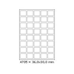 Etikety 36,0x30,0mm, 40 etiket x 100 archů, R01004705