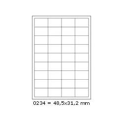 Etikety 48,5x31,2mm, 36 etiket x 100 archů, R01000234