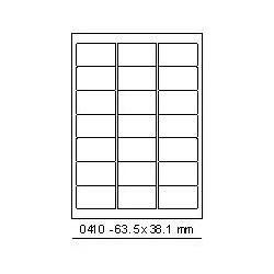 Etikety 63,5x38,1mm, 21 etiket x 100 archů, R01000410