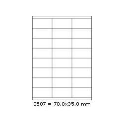 Etikety 70,0x35,0mm, 24 etiket x 100 archů, R01000507