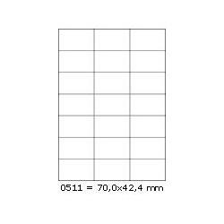 Etikety 70,0x42,4mm, 21 etiket x 100 archů, R01000511