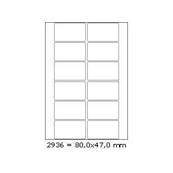 Etikety 80,0x47,0mm, 12 etiket x 100 archů, R01002936