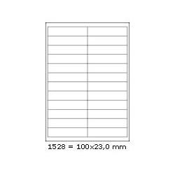 Etikety 100,0x23,0mm, 24 etiket x 100 archů, R01001528
