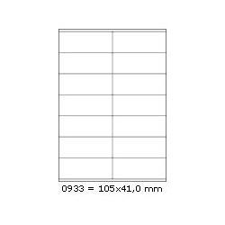 Etikety 105,0x41,0mm, 14 etiket x 100 archů, R01000933