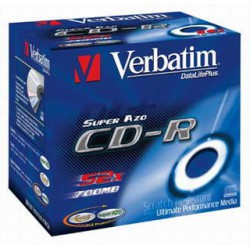 CD-R Verbatim 700 MB, 52x, Jewel Box