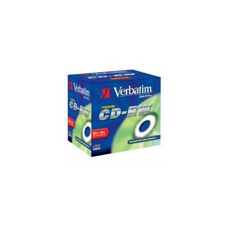 CD-RW Verbatim 700 MB, 2-4x, Jewel Box