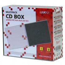 Box na 5 ks CD průhledný, černý vnitřek