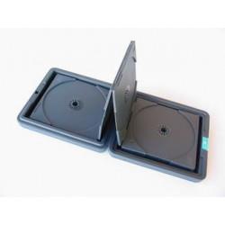 Box na 12 ks CD černý, přenosný, album-harmonika