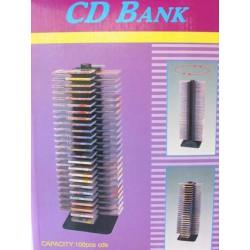 Box na 100 ks CD, černý, čtyřstranná věž