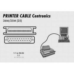 Kabel CENTRONICS k tiskárně - 3.0 m, C36M-25M