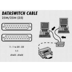 Kabel propojovací k dataswitch 25M-25M-25pin, 2m