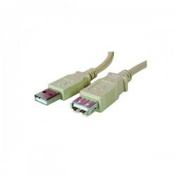 Kabel USB (2.0) zástrčka  A/zásuvka A (plochá), 3m