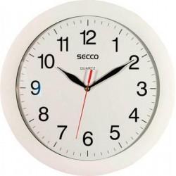 Hodiny nástěnné SECCO 25 cm, bílé, kulaté