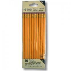 Dřevěná tužka s pryží, 10 ks, HERLITZ HB, 867060/6