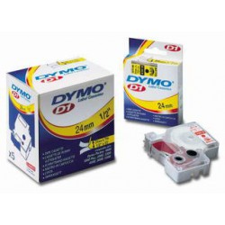 DYMO D1 40913, 9mm x 7m, černý tisk/bílá páska