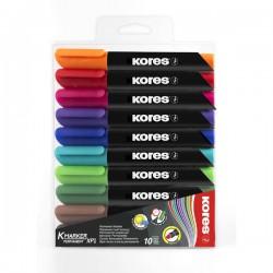 Popisovač Kores K-marker XP1, permanentní, sada 10 barev