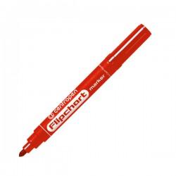 Značkovač 8550 vodní inkoust, flipchart, červený