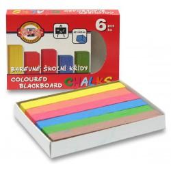 Křída školní 112506, 6 barev v papír. skládačce
