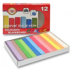 Křída školní 112506, 12 barev v papírové krabičce