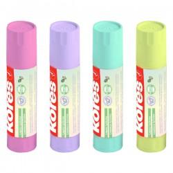 Lepící tyčinka KORES šroubovací, 20g, pastelové barvy