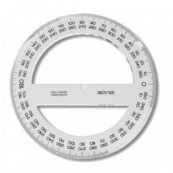 Úhloměr 360/100 plastový, transparentní