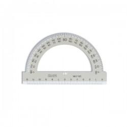 Úhloměr 180/125 mm plastový, transparentní