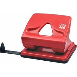 Děrovač SAX 406, 30 listů, červený