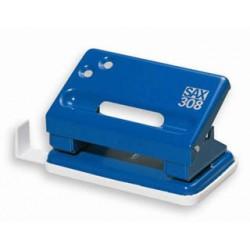 Děrovač SAX 308, 15 listů, modrý