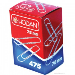 Aktové spony 475, 75 mm, krabička 50 ks