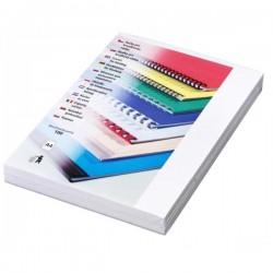 Zadní desky pro vazbu A4, imitace kůže bílá, 100ks