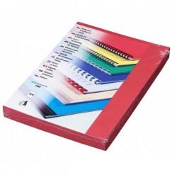Zadní desky pro vazbu A4, imitace kůže červená, 100ks