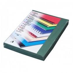 Zadní desky pro vazbu A4, imitace kůže zelená, 100ks