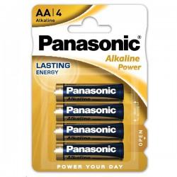 Tužk.baterie 1,5 V Panasonic Alkaline power LR6, 4ks
