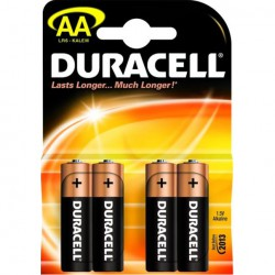 Tužk.baterie alkalická 1,5 V Duracell Basic AA, LR06, 4ks