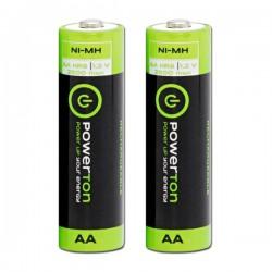 Baterie nabíjecí AA, Powerton 2500mAh, 2ks