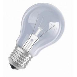 Žárovka 60W, 220V,  závit E27, čirá