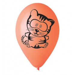 Balonky nafukovací s potiskem - zvířátka, sada 4ks, 1012