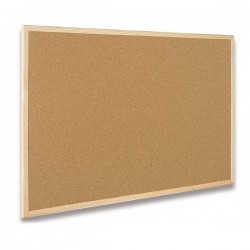 Tabule korková 60 x 90cm, dřevěný rám