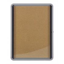 Vitrina interiérová uzamykatelná korková, 69x75 cm, 6 x A4