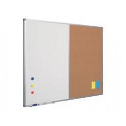 Tabule půlená, bílá / korková  60 x 90 cm