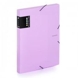 Krabice na spisy A4 s gumou Pastelini - fialová