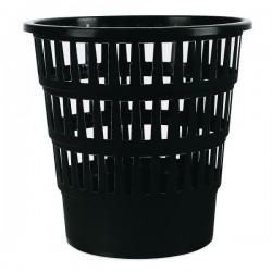 Koš na odpadky, děrovaný, černý plast