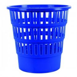 Koš na odpadky, děrovaný, modrý plast