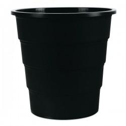 Koš na odpadky plný, černý plast